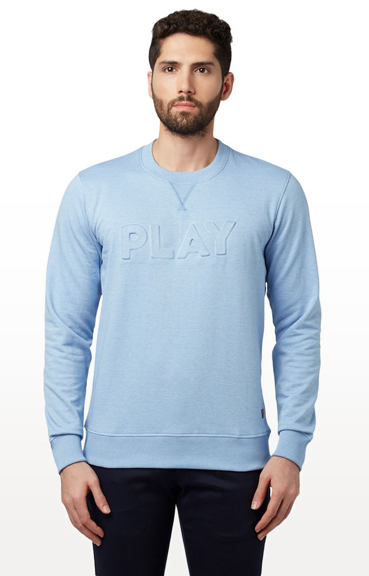 Park Avenue | Light Blue Melange Sweatshirt