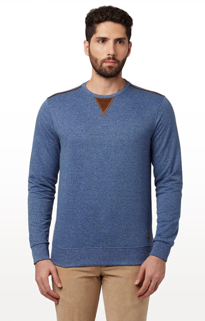 Park Avenue | Blue Melange Sweatshirt