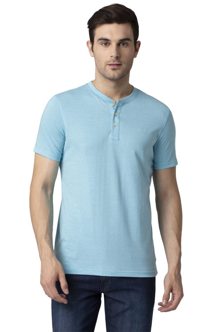 Park Avenue | Blue Solid T-Shirt