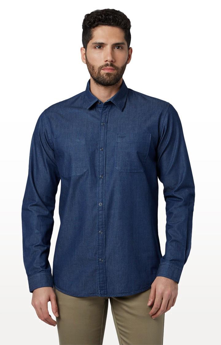 Park Avenue | Park Avenue Dark Blue Casual Shirt