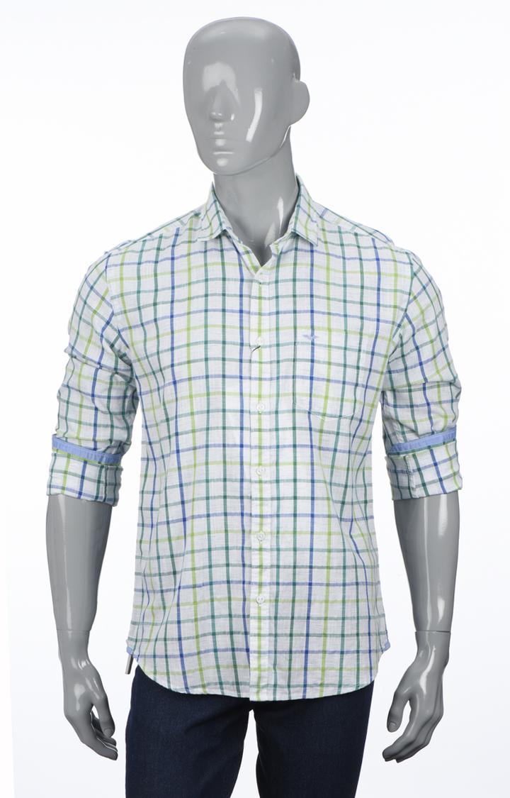 Park Avenue | Dark Green Checked Casual Shirt