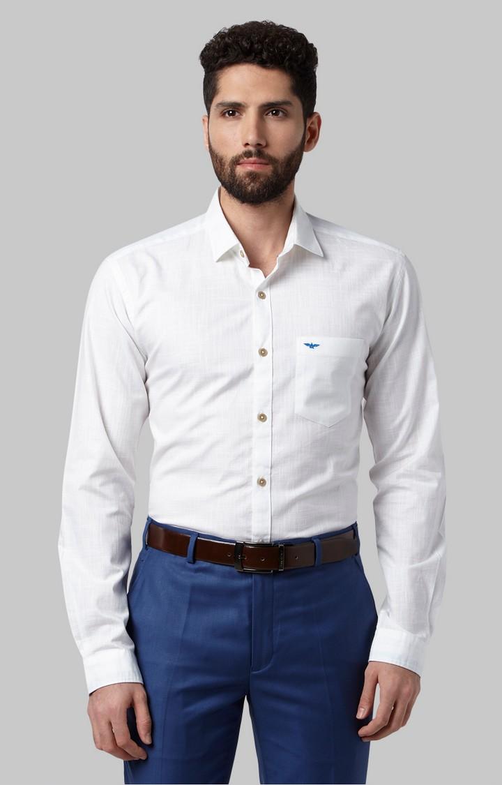 Park Avenue | White Melange Formal Shirt