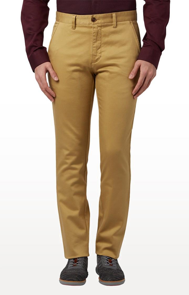 Park Avenue | Khaki Flat Front Formal Trousers