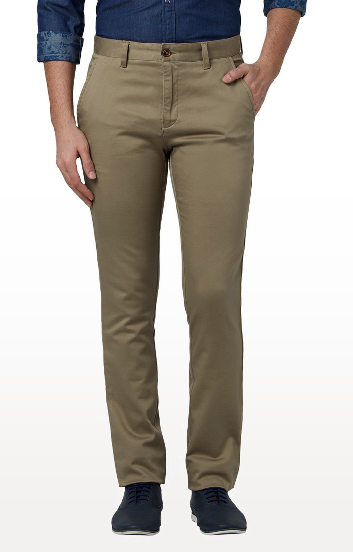 Park Avenue | Light Brown Flat Front Formal Trousers