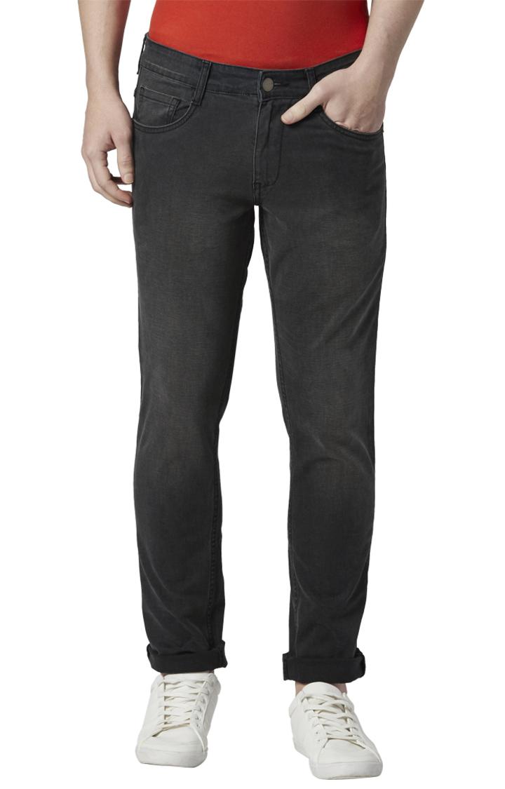 Park Avenue | Black Solid Mod Fit Jeans