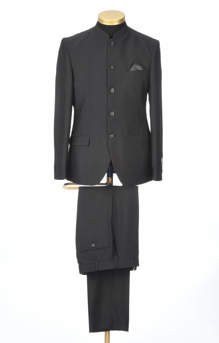 Park Avenue | Black Solid Bandhgala
