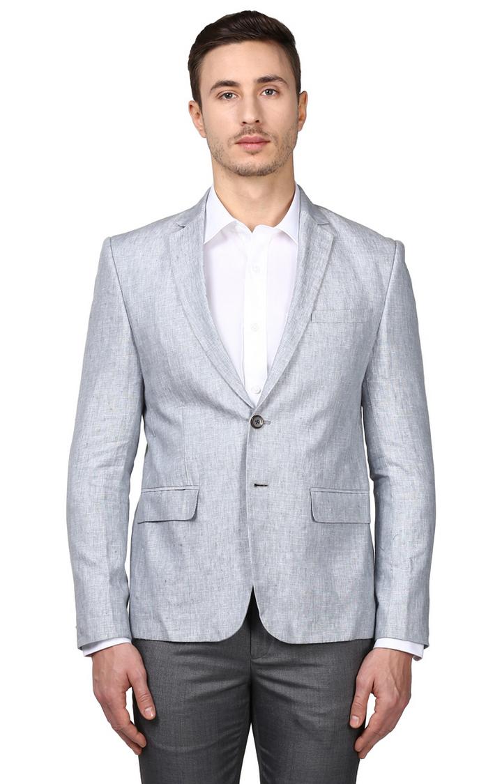 Park Avenue   Grey Melange Blazer