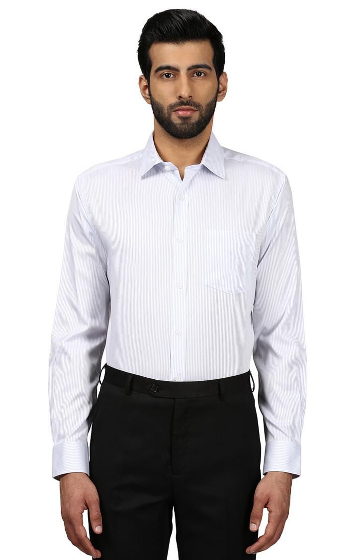 Park Avenue | White Striped Formal Shirt