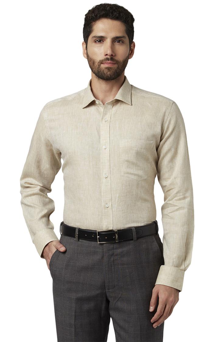 Park Avenue | Beige Melange Formal Shirt