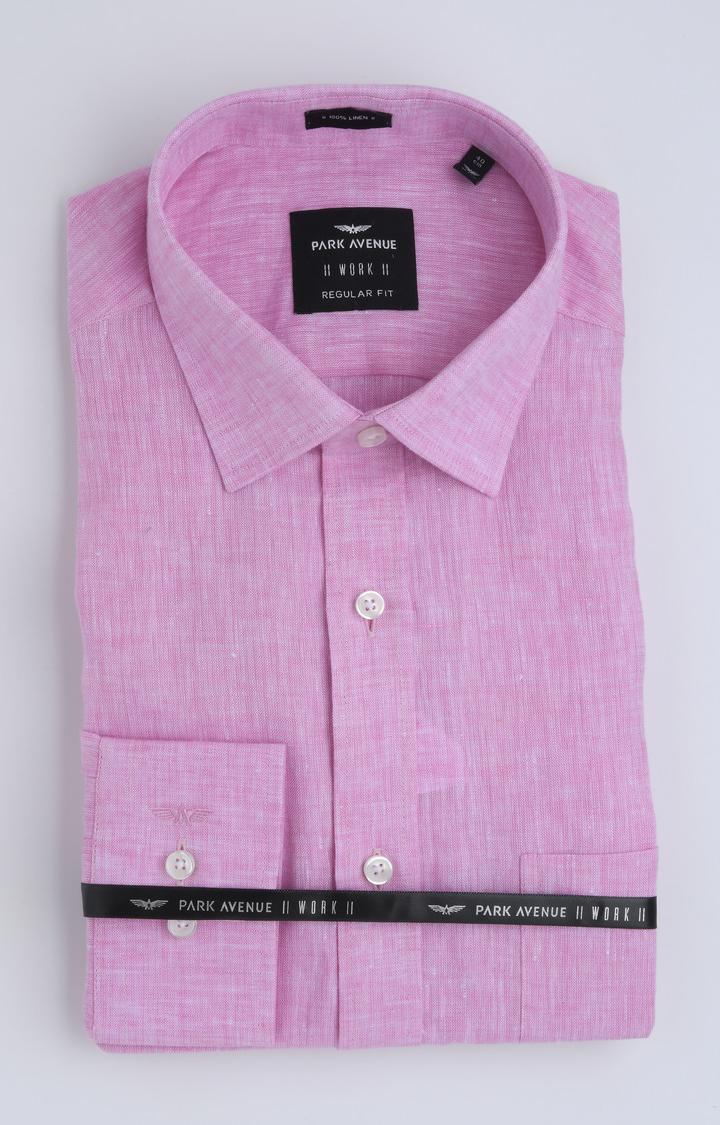 Park Avenue   Pink Melange Formal Shirt