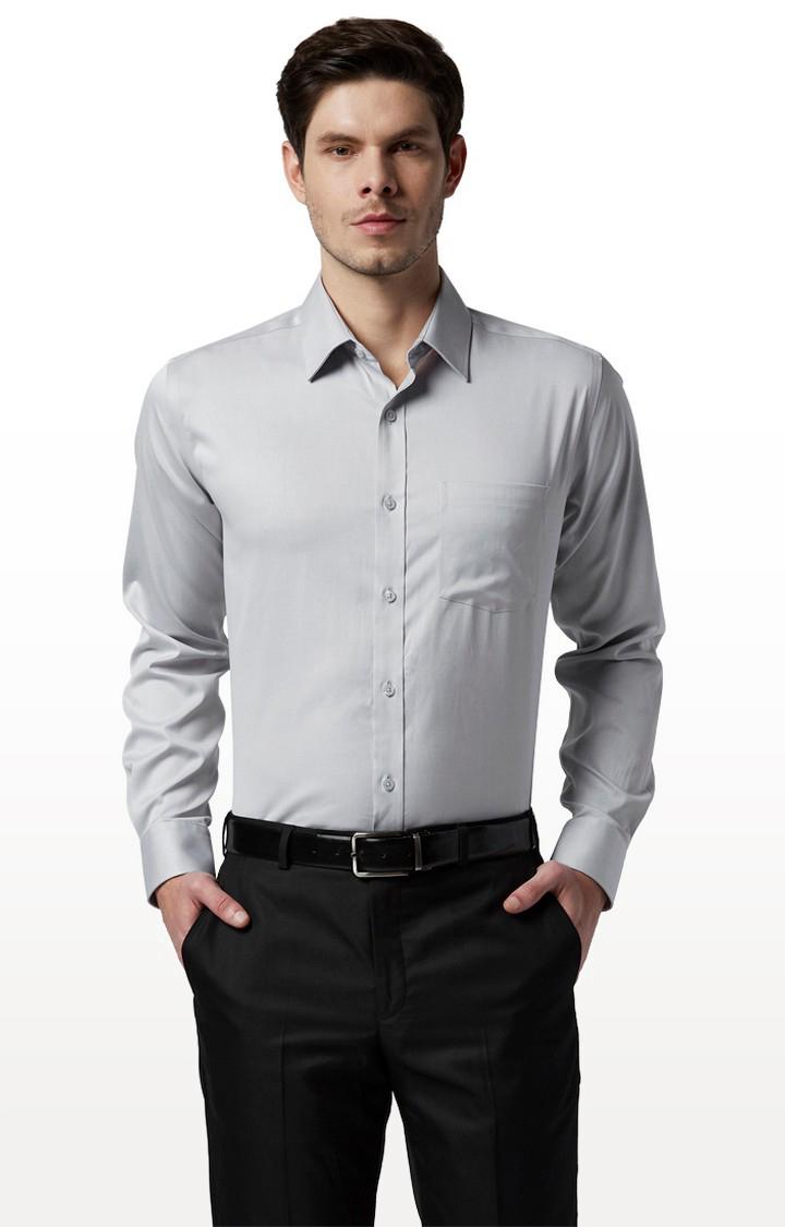 Park Avenue | Grey Solid Formal Shirt