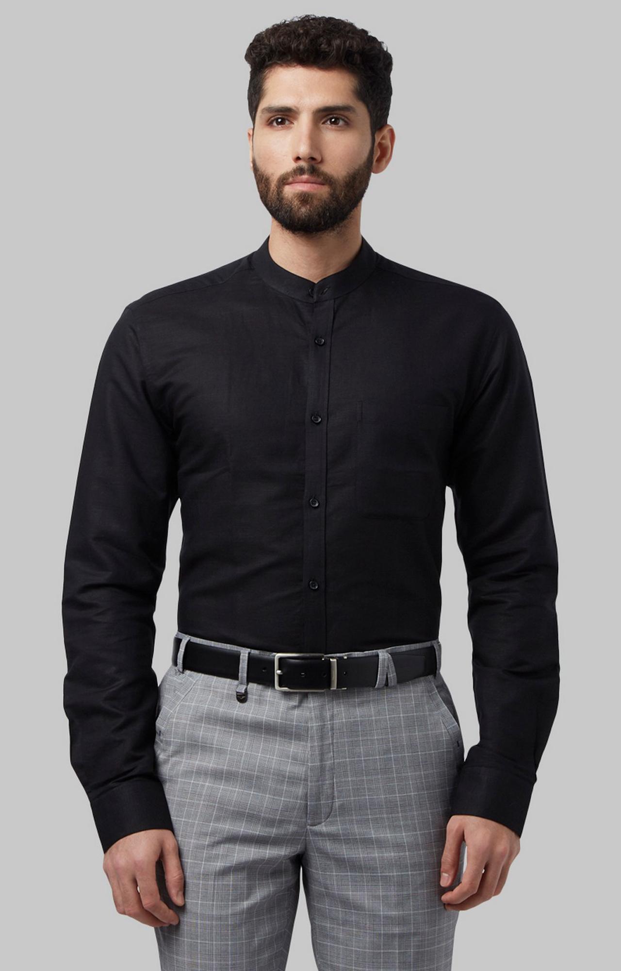Park Avenue | Black Solid Formal Shirt