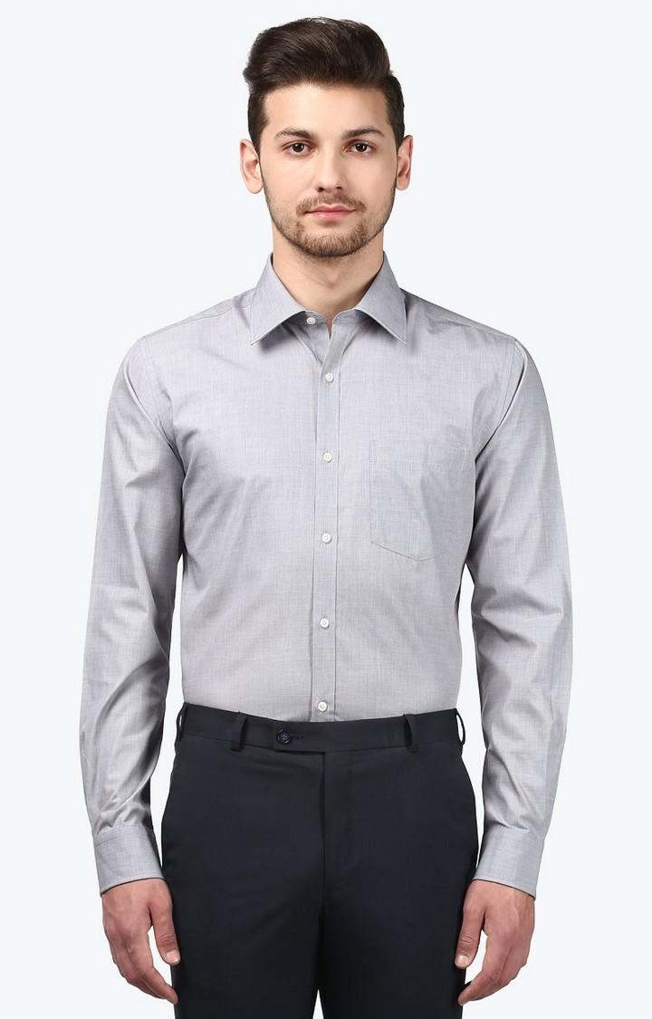 Park Avenue | Grey Melange Formal Shirt