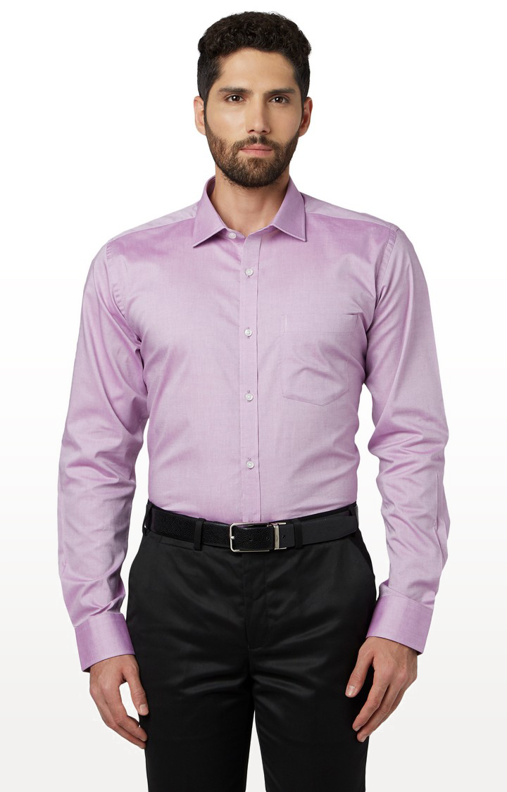 Park Avenue   Purple Solid Formal Shirt
