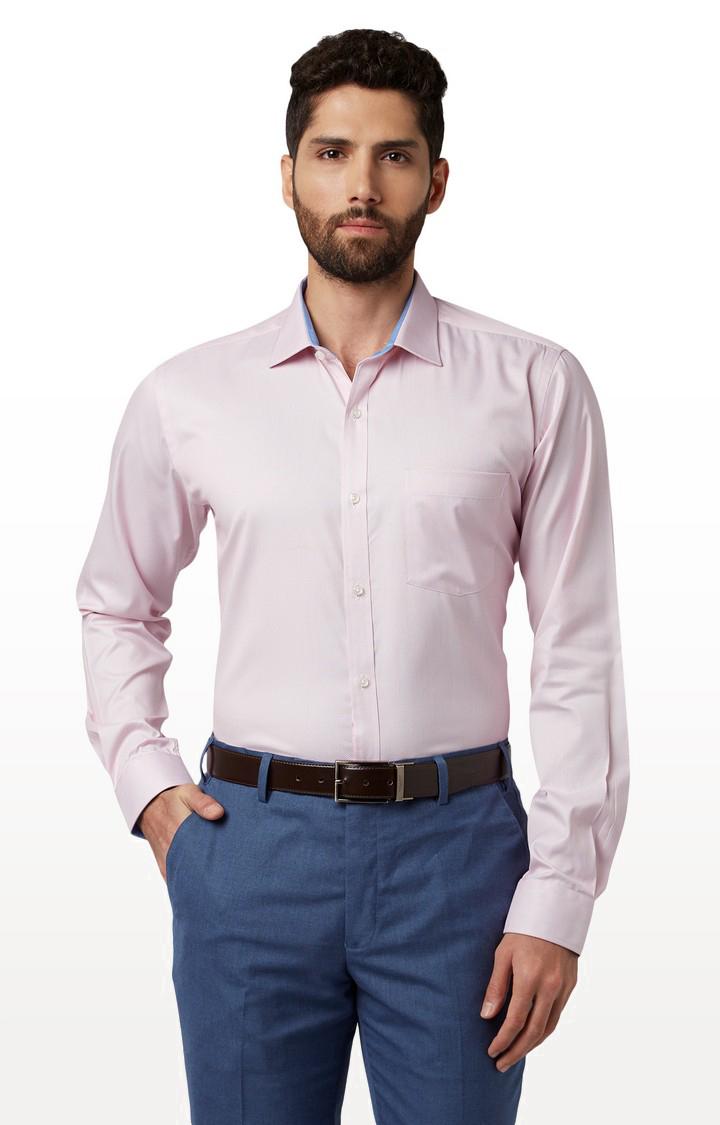 Park Avenue | Pink Solid Formal Shirt