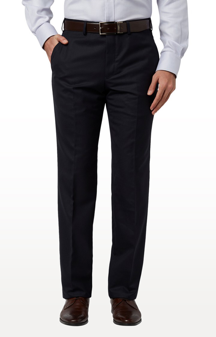 Park Avenue | Dark Blue Tapered Formal Trousers