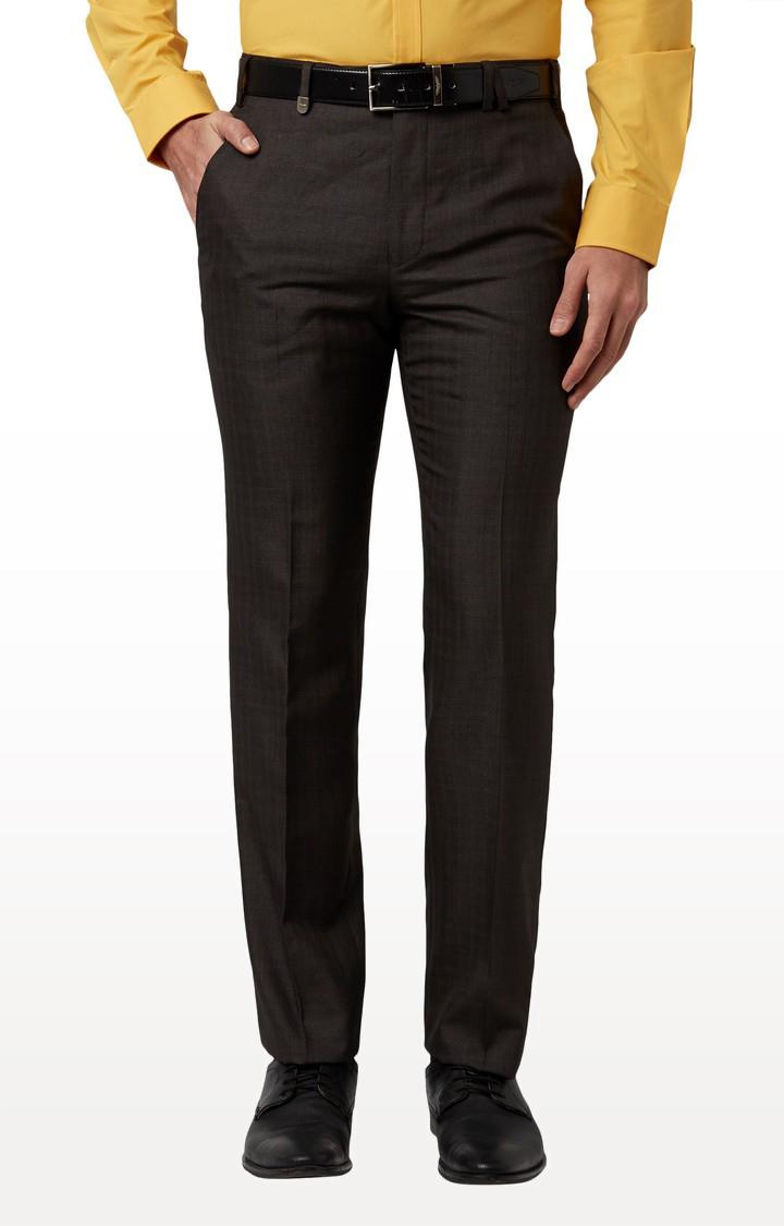 Park Avenue | Dark Brown Tapered Formal Trousers