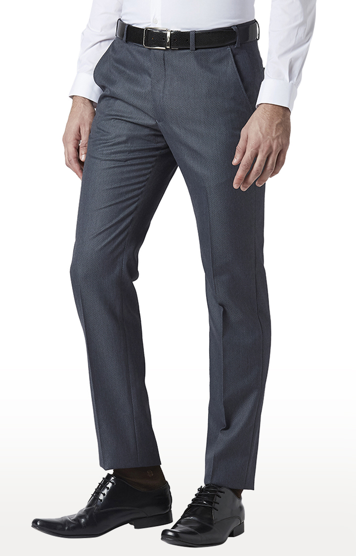Park Avenue | Grey Flat Front Formal Trousers