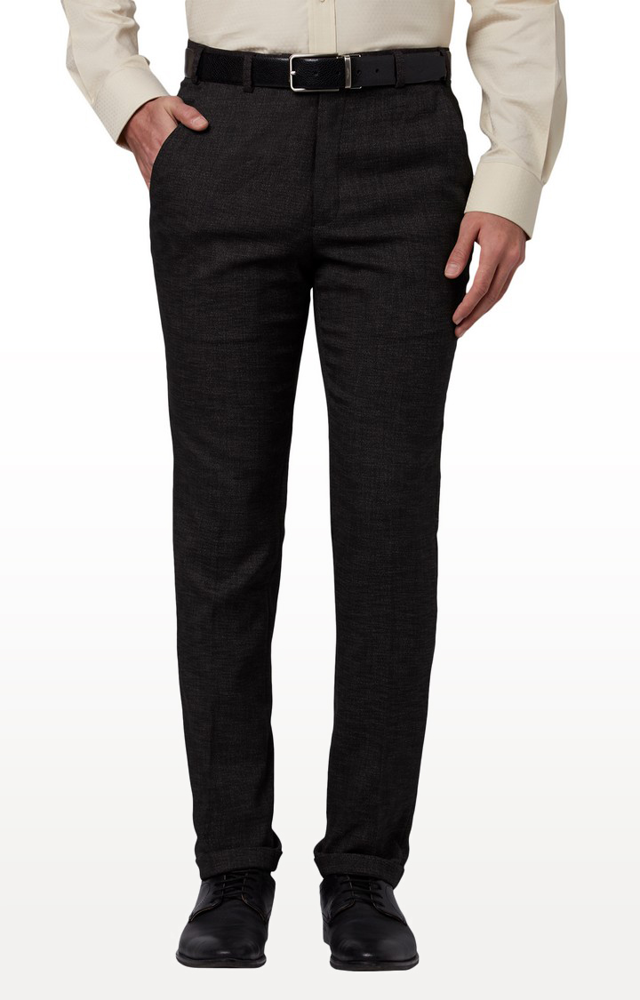 Park Avenue | Dark Grey Tapered Formal Trousers