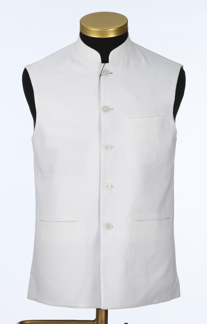 Park Avenue | White Solid Ethnic Jacket