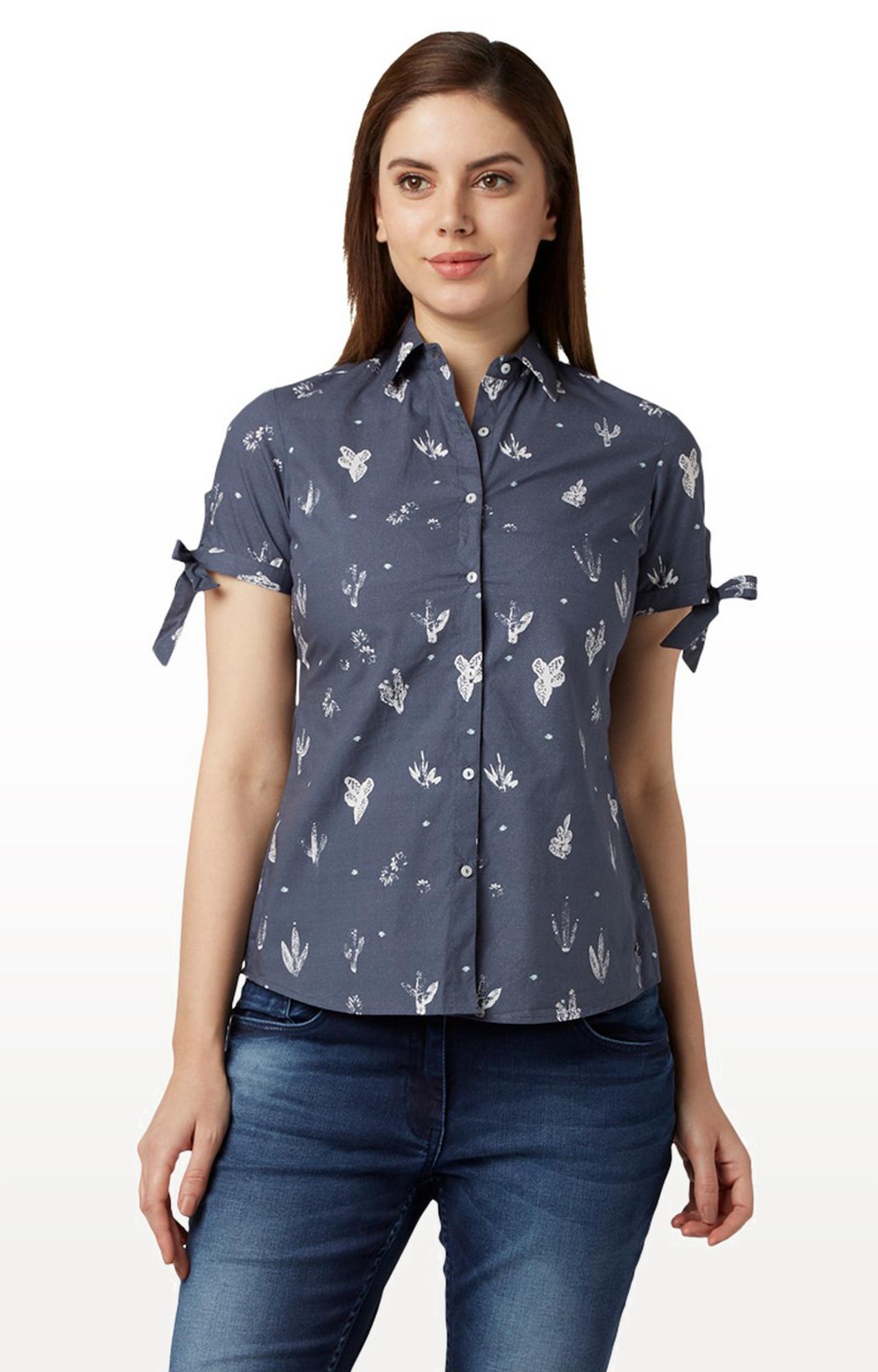 Park Avenue | Dark Grey Printed Casual Shirt
