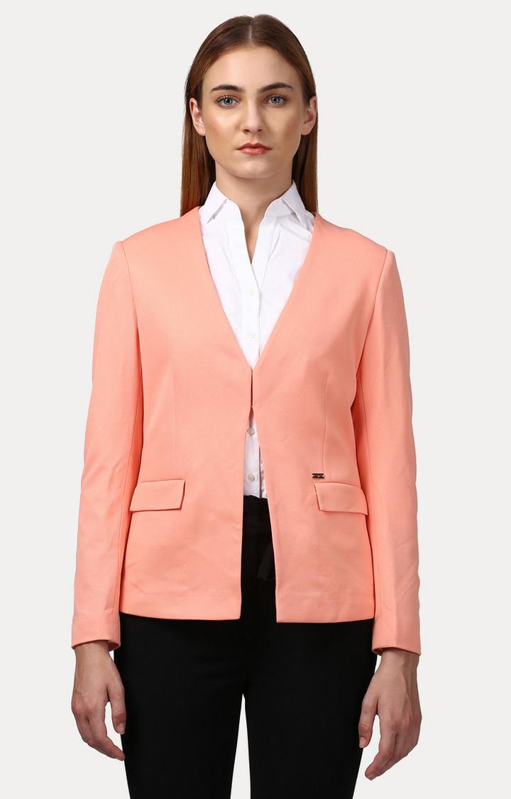 Park Avenue | Peach Solid Blazer