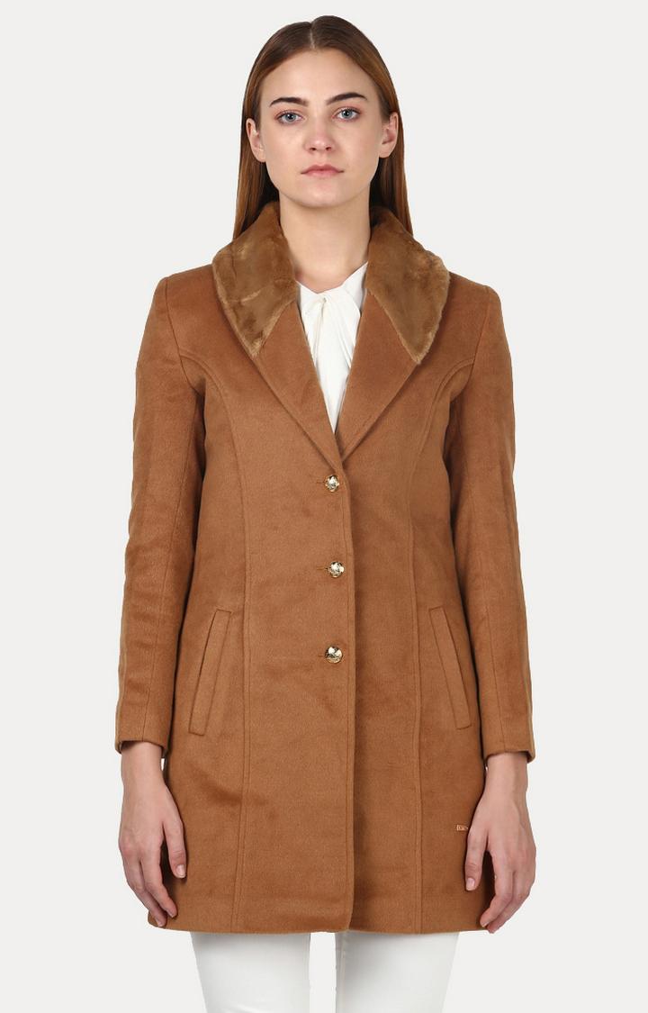 Park Avenue   Brown Solid Jacket