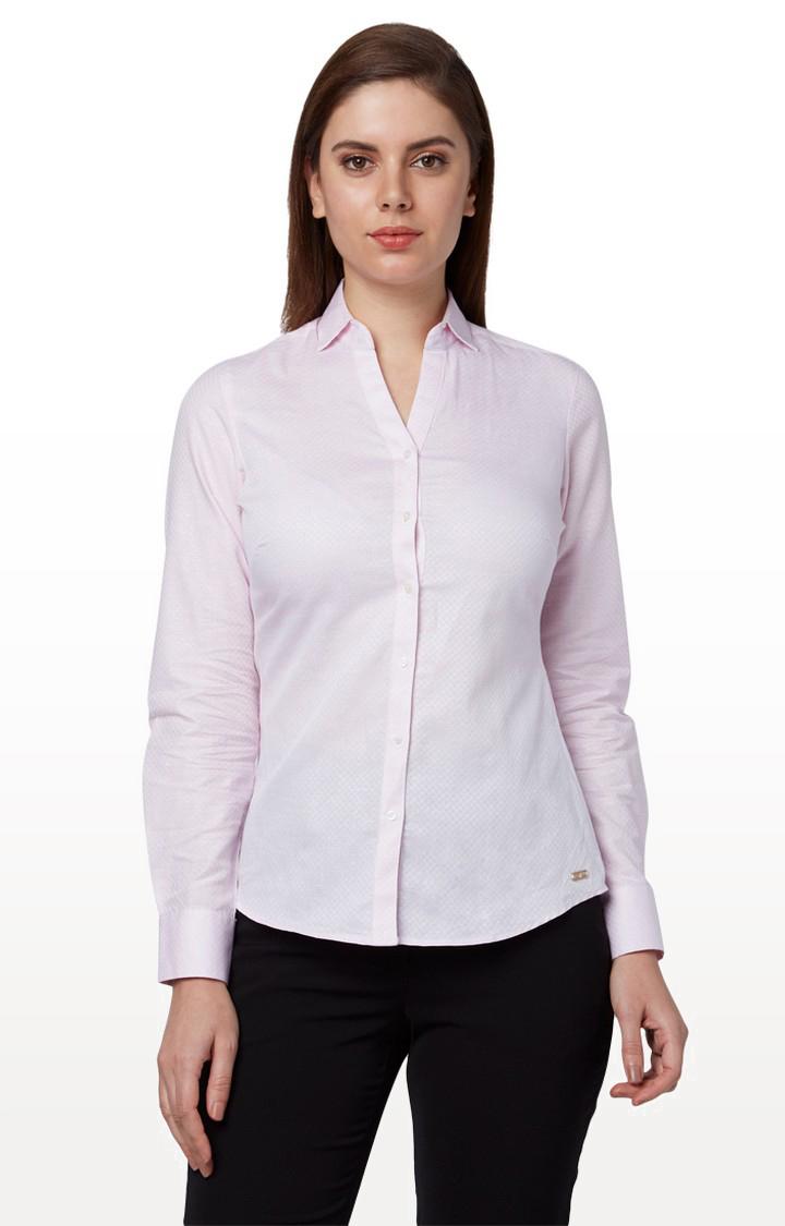 Park Avenue   Light Pink Checked Formal Shirt