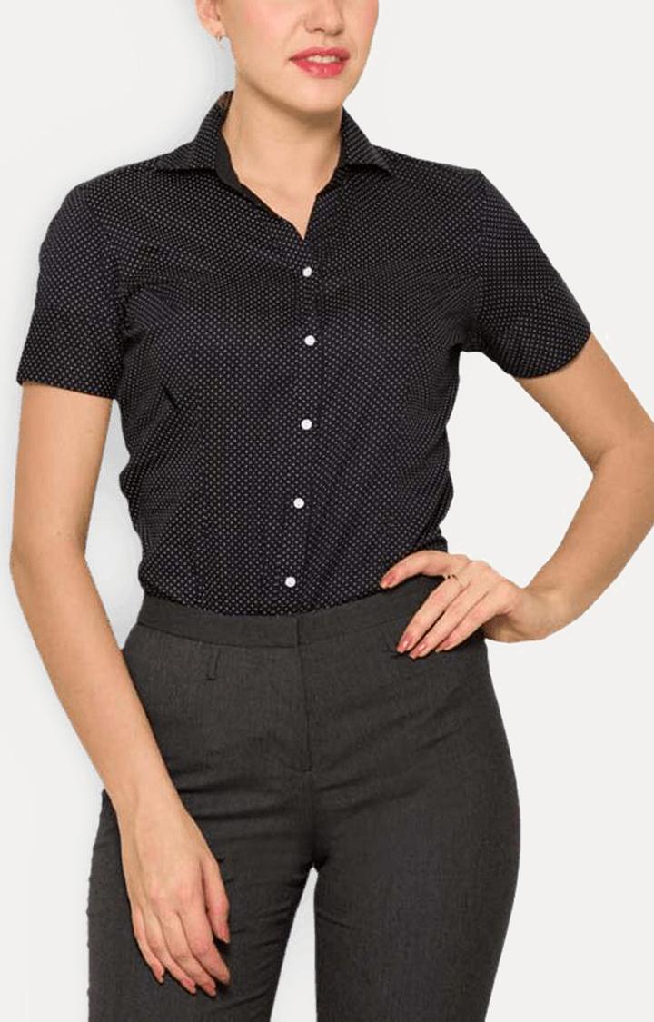 Park Avenue | Black Printed Formal Shirt