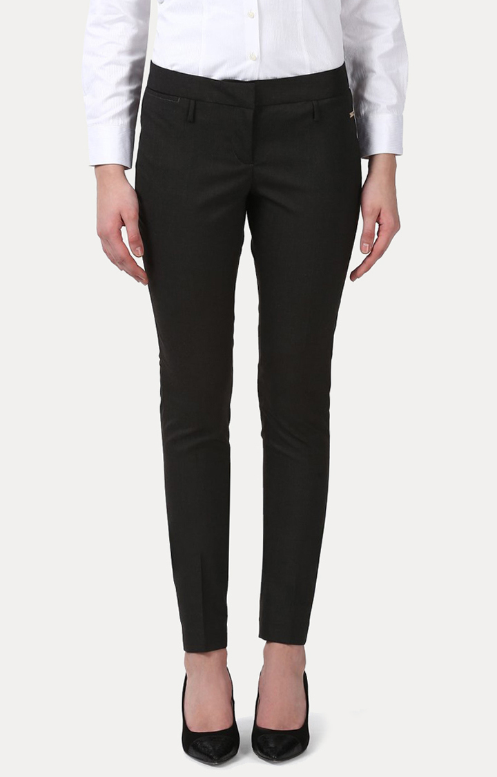 Park Avenue   Dark Brown Straight Trousers