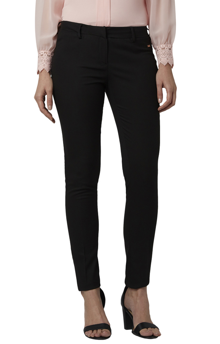 Park Avenue   Black Tapered Trousers
