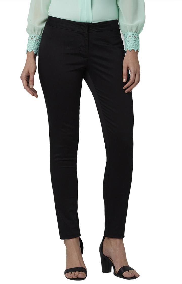 Park Avenue   Black Super Slim Fit Trousers