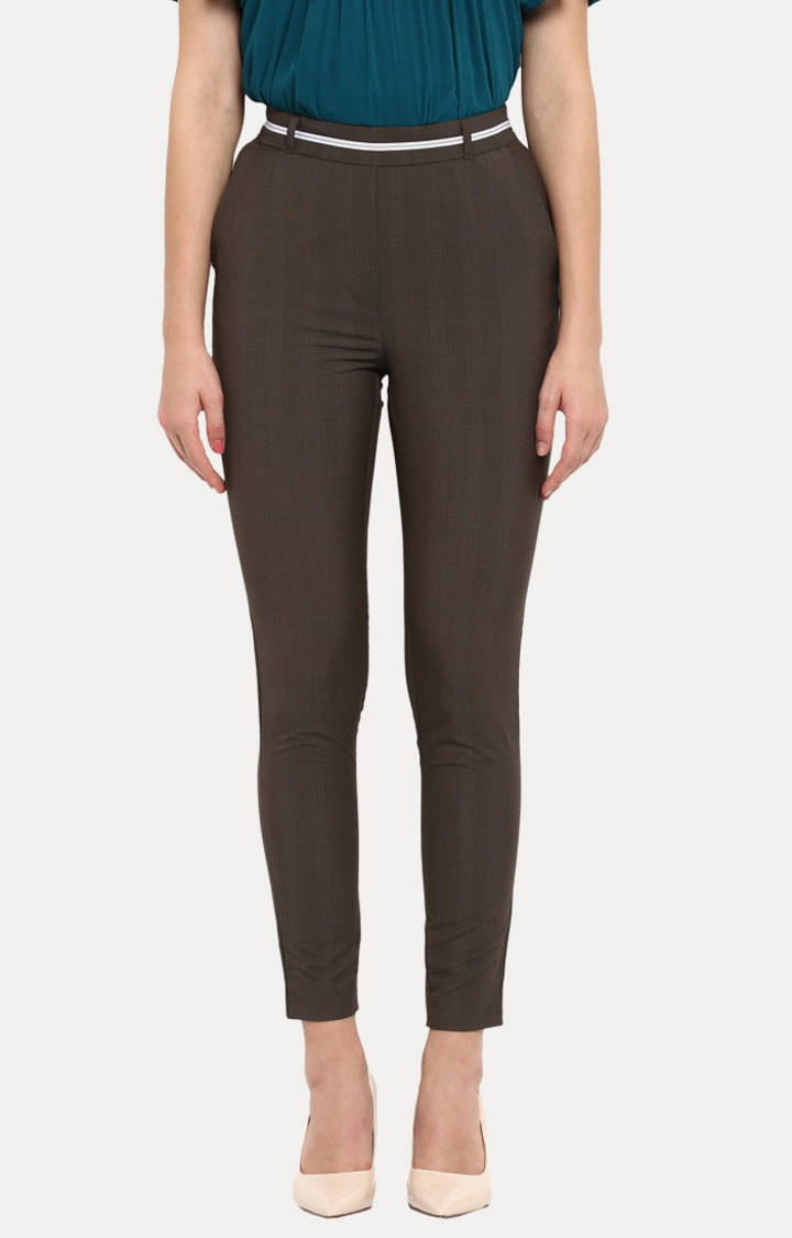 Park Avenue | Brown Cropped Trousers