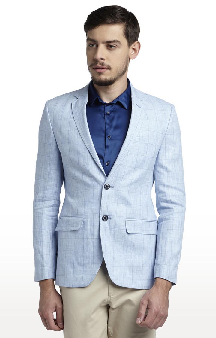 PARX   Blue Checked Blazer