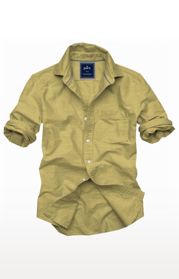 PARX   Green Melange Casual Shirt