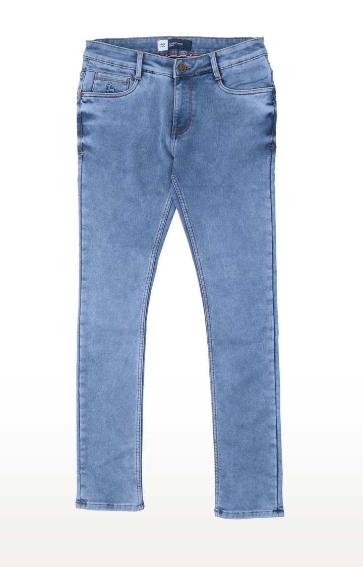 PARX   Blue Solid Straight Jeans