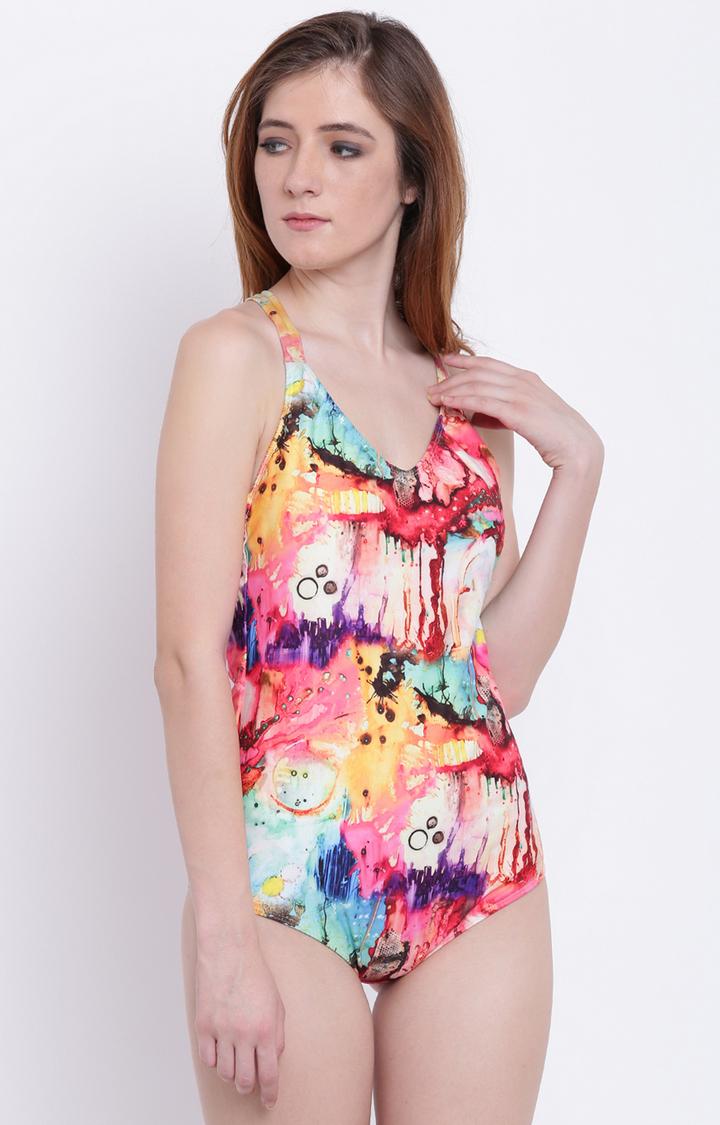 La Intimo | Multicoloured Printed Swimsuit