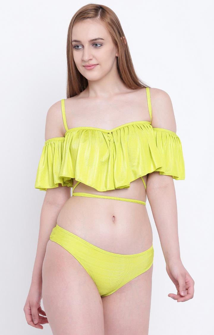 La Intimo   Fluorescent Green Bikini