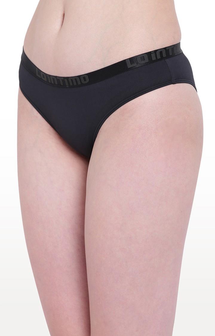 La Intimo | Black Aqua Pop Bikini Panty