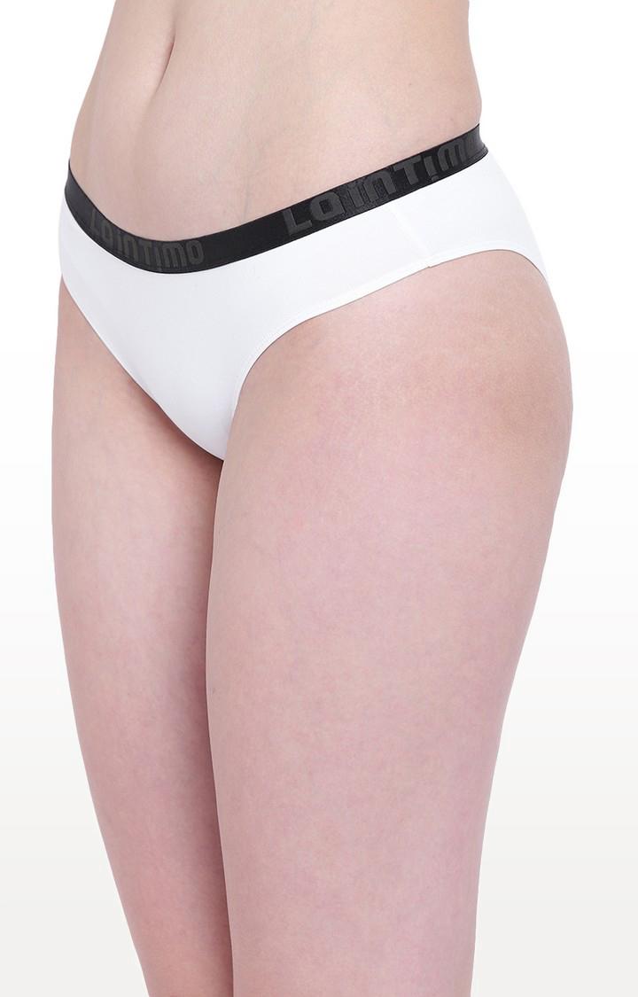 La Intimo | White Aqua Pop Bikini Panty