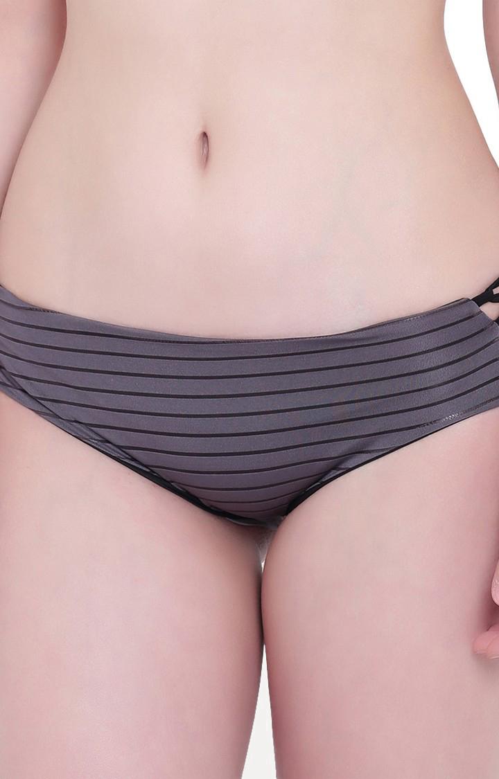 La Intimo | Petrol Grey Sea Show Panty