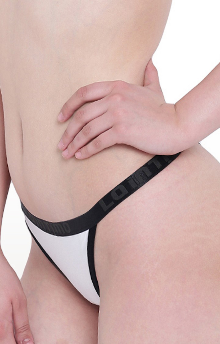 La Intimo | White Beach Pop Thong Panty
