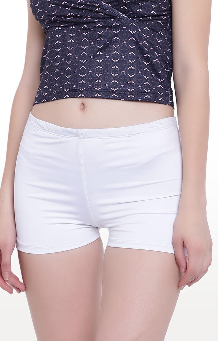 La Intimo | White Fash Melange Shorts
