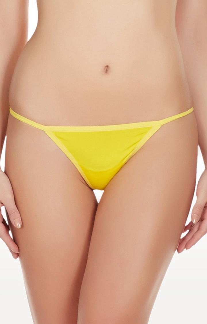 La Intimo | Yellow Hollywood No Coverge Thong Panty