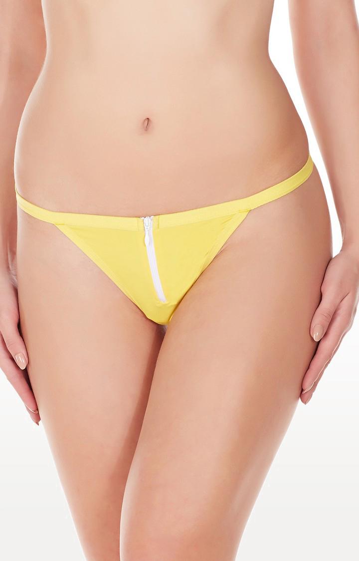 La Intimo | Yellow Zipper G-String Thong