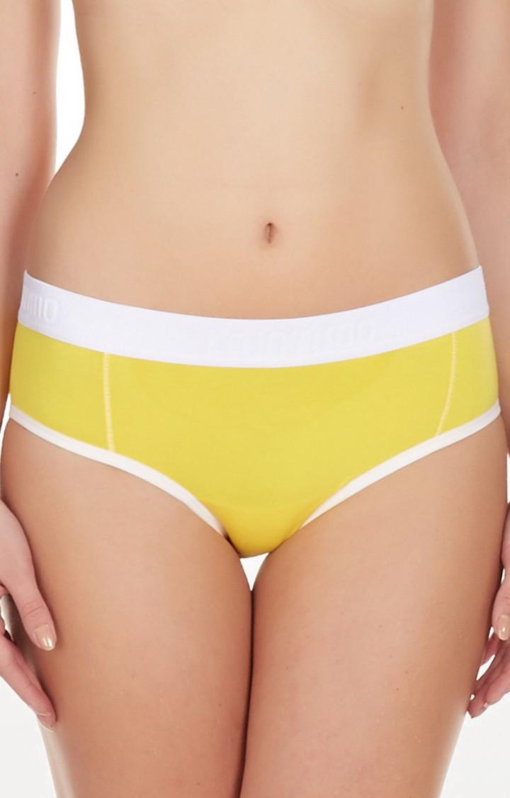 La Intimo | Yellow Peep Hole Bikini Panty