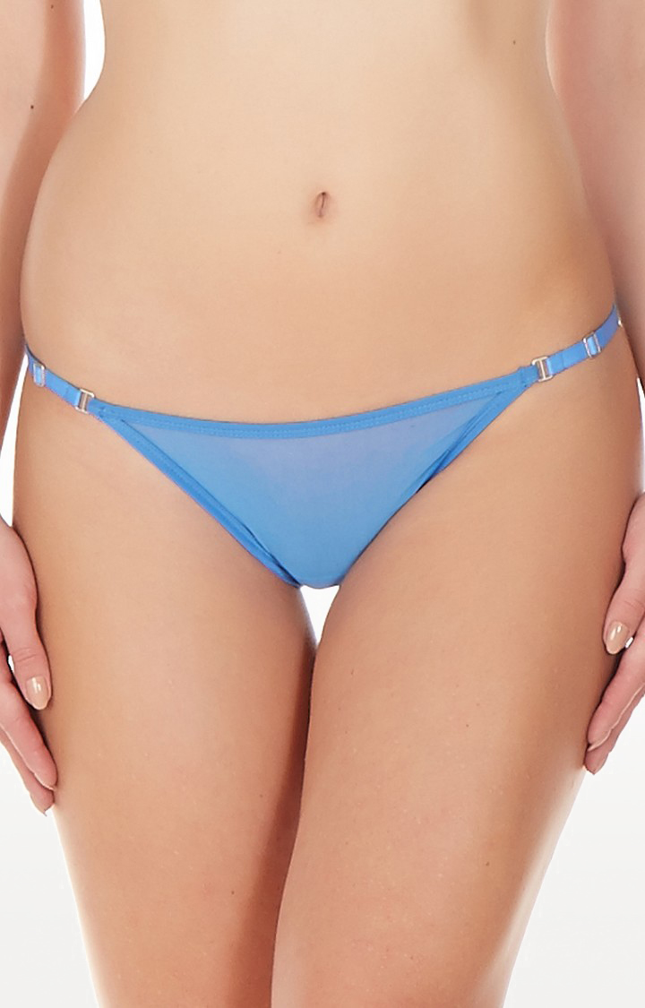 La Intimo | Blue Mesh Bikini Panty