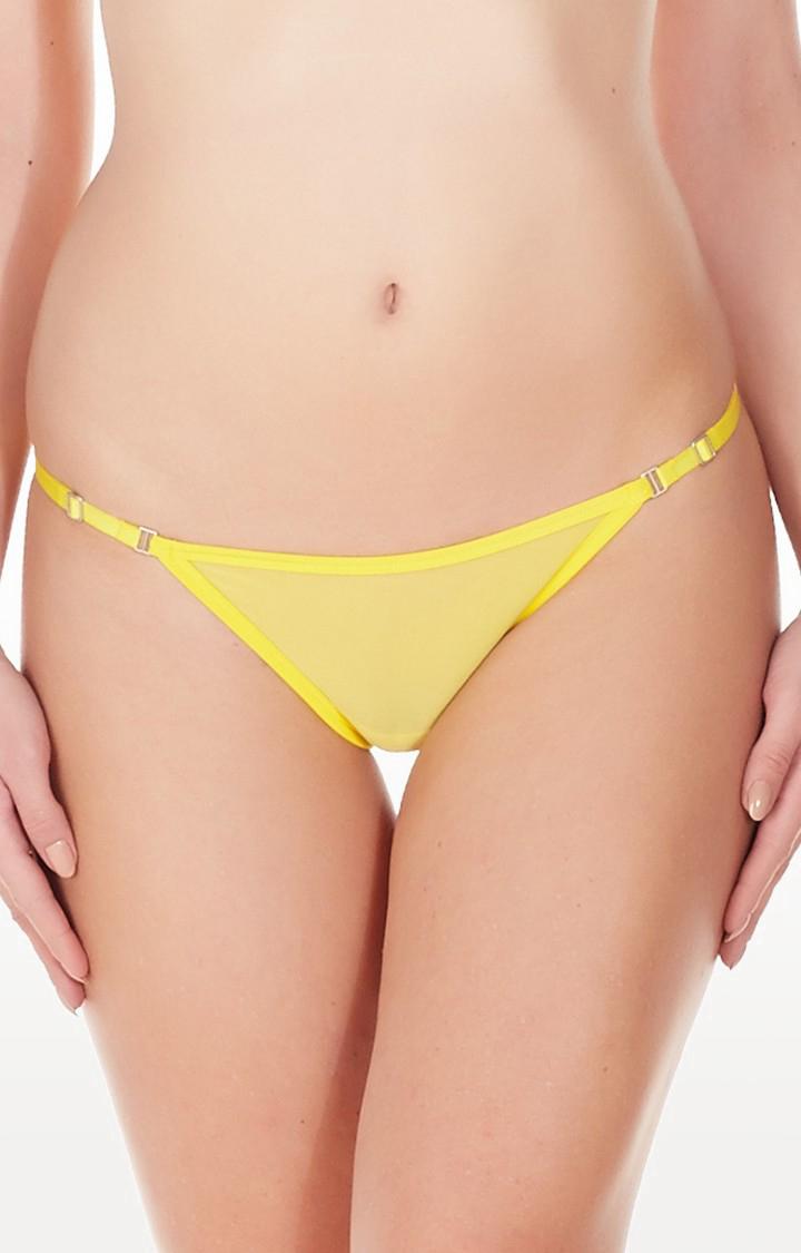 La Intimo | Yellow Mesh Bikini Panty