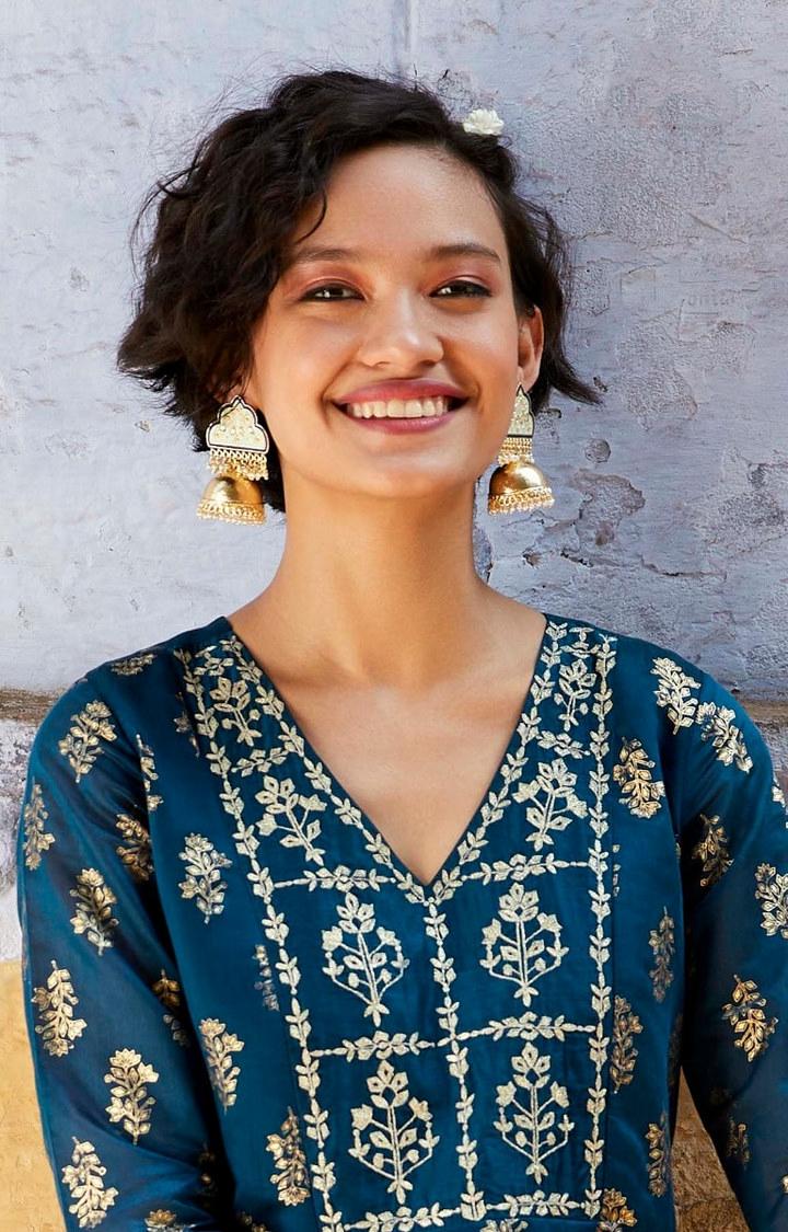Global Desi | Gold Jhumkis