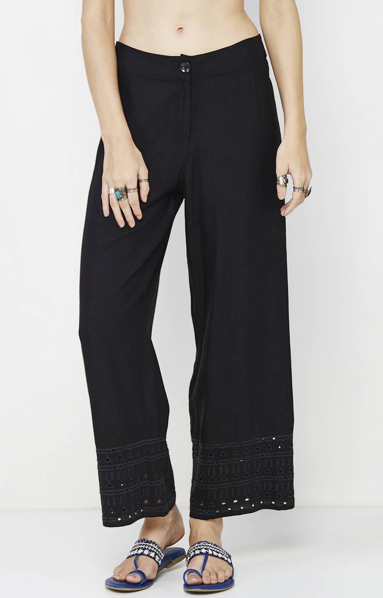 Global Desi   Black Flared Trousers